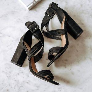 Qupid Strappy Block Heel